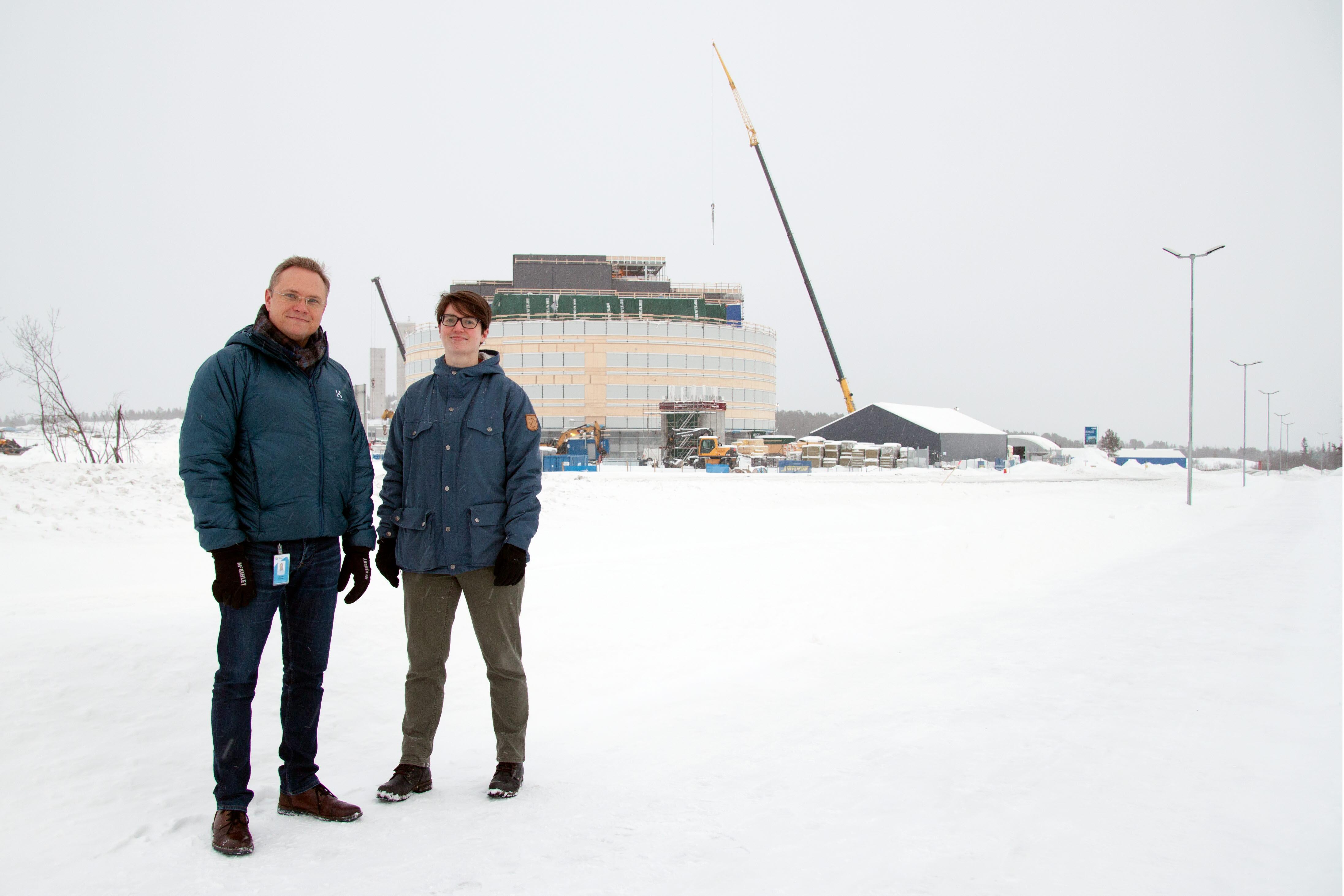 Joakim Norman och Maja Nilsson Tekniska Verken i Kiruna