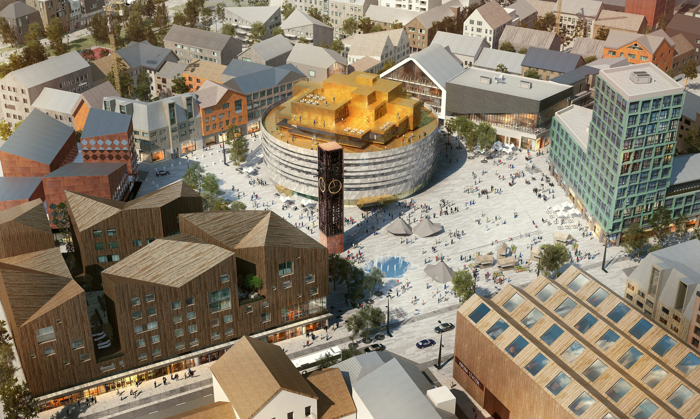 Illustration nya Kiruna: White arkitekter.