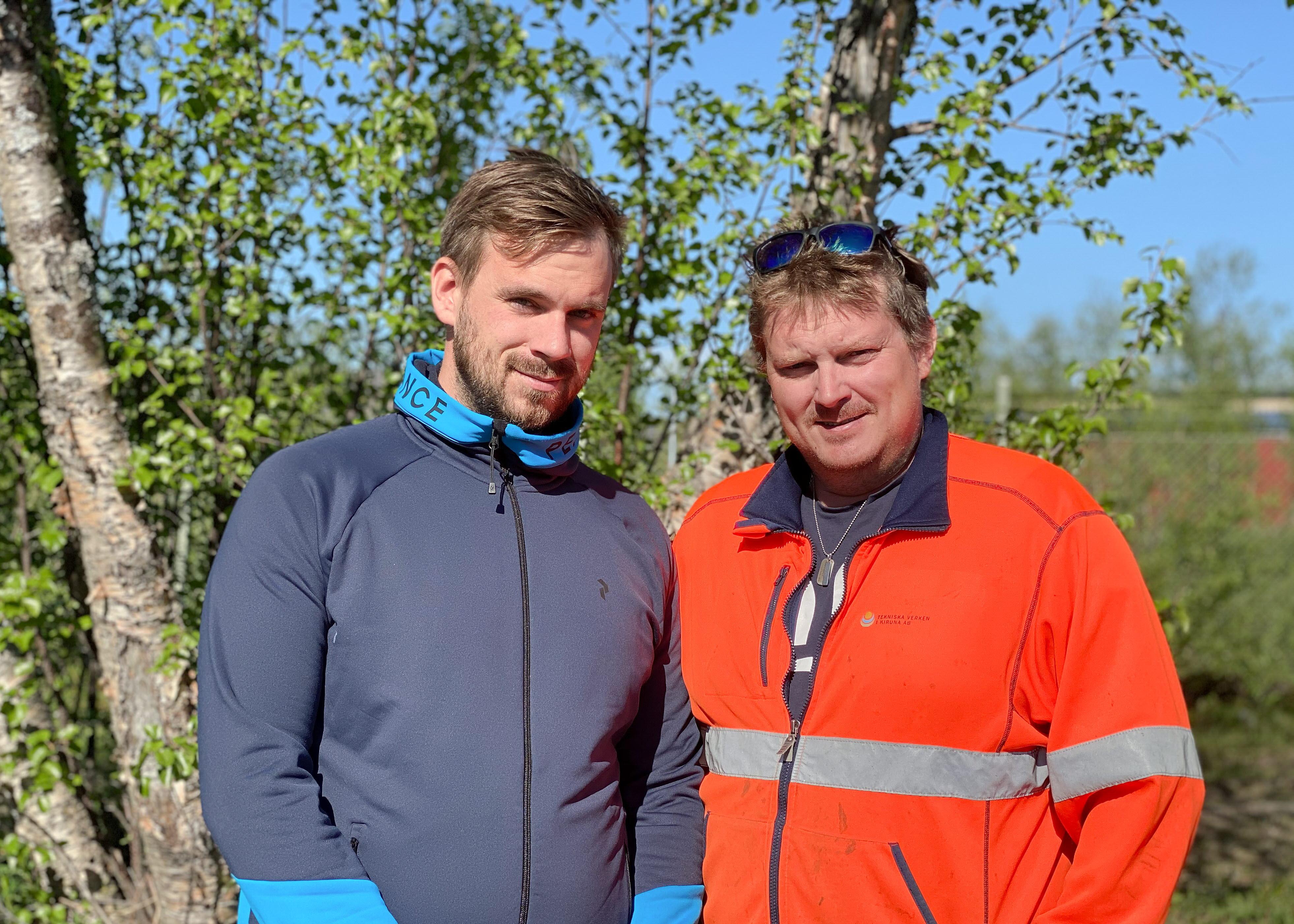 Henrik Kauppi Brodin och Johan Häggroth Tekniska Verken i Kiruna