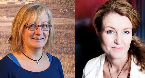 Ann-Christin Samuelsson, tillväxtchef på Stadsbyggnadsförvaltningen i Kiruna och Åsa Wikberg Nilsson, projektledare LTU.
