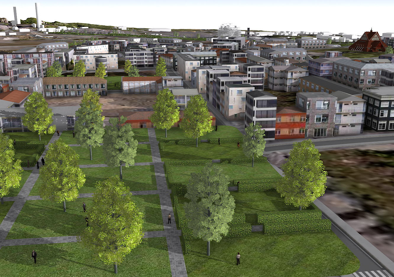 BIM-modell nya Kiruna centrum