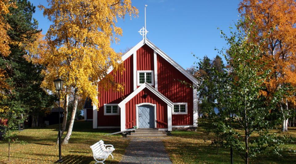 Ingång till Jukkasjärvi kyrka