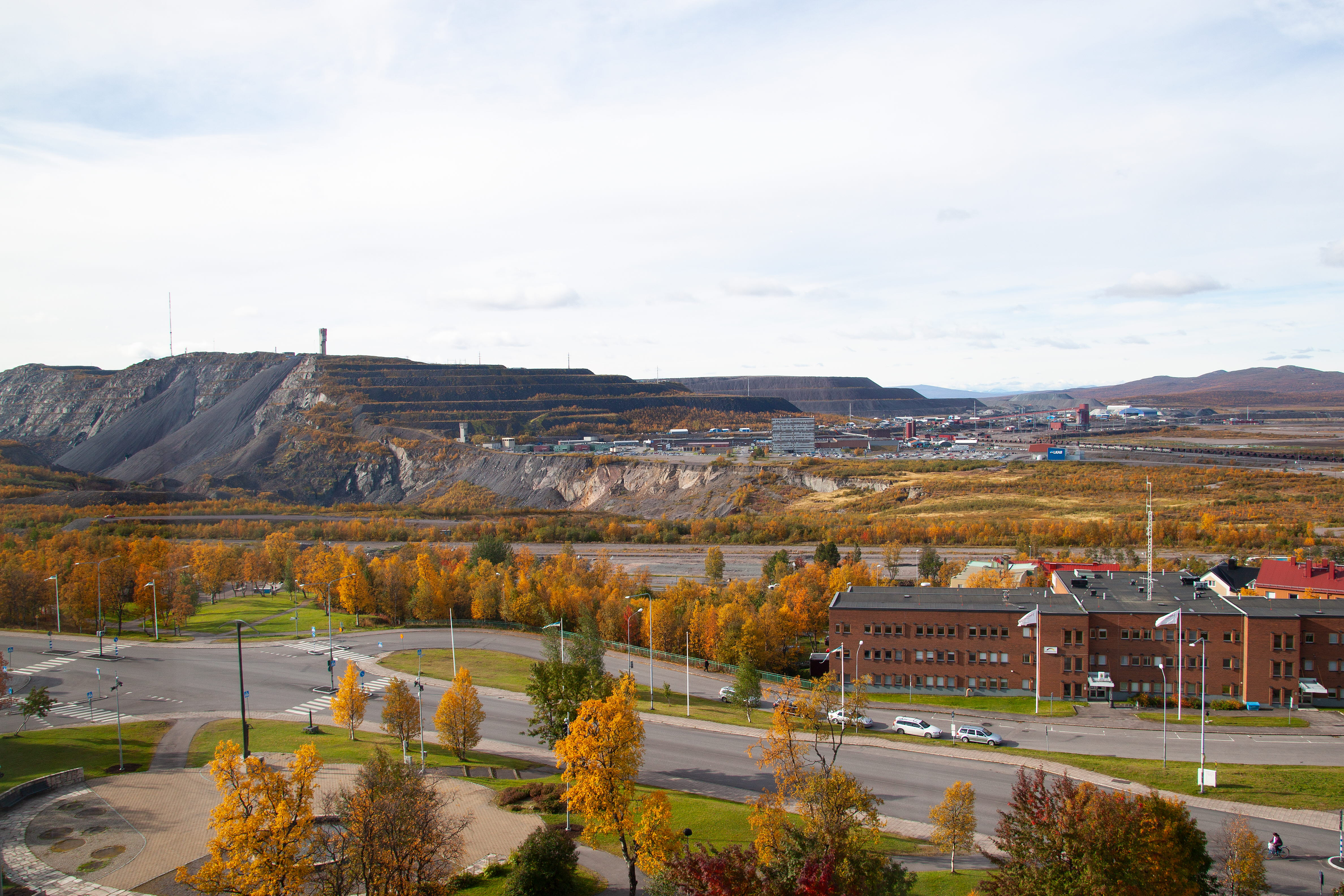 Vy över gruvan i Kiruna