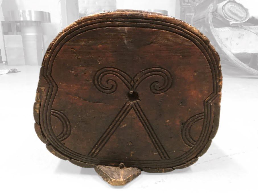Dekor på baksidan av ryggstödet