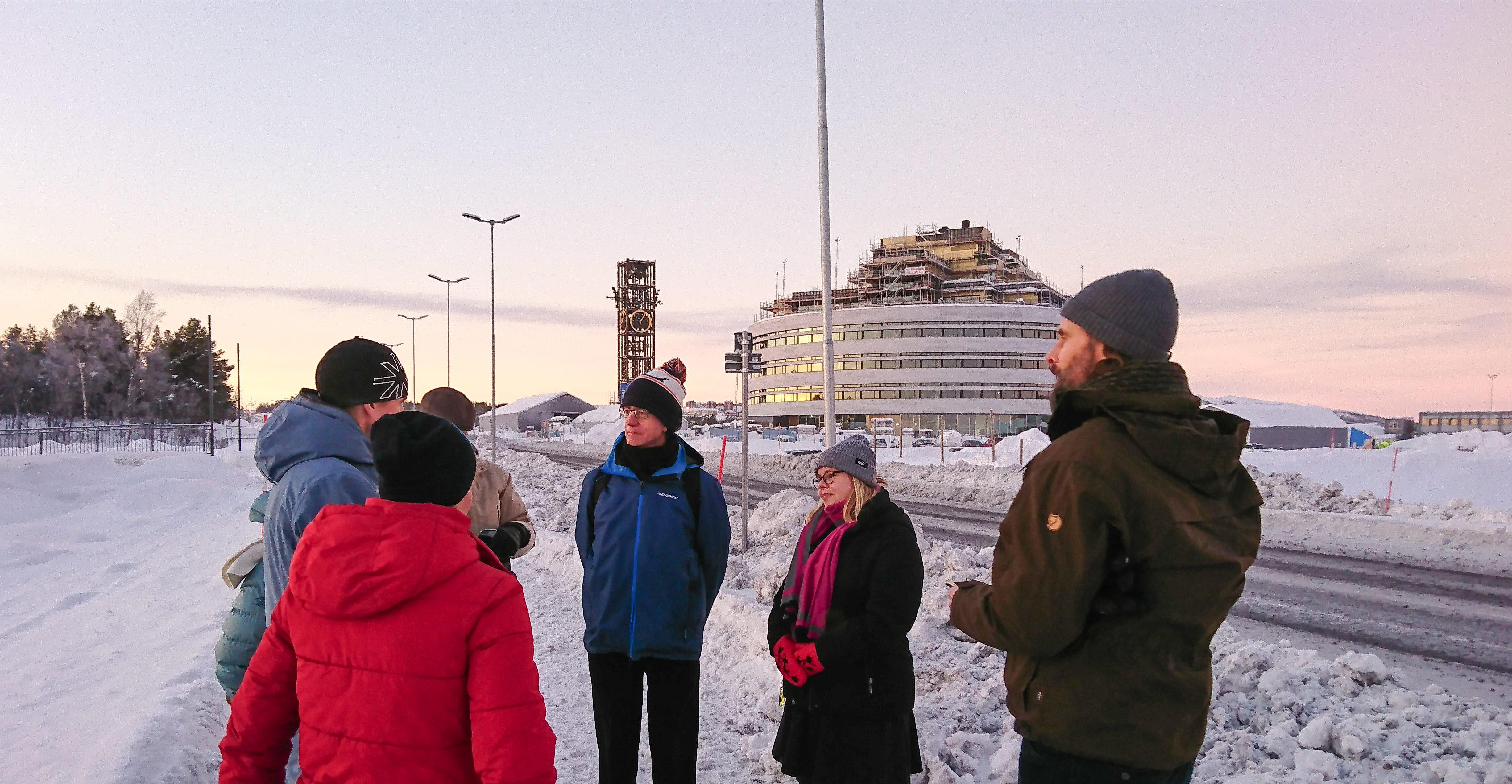 Projektgrupp för projektet smart belysning Kiruna Sustainability Center