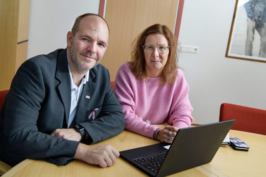 Niklas Sirén och Nina Sarri Kiruna Sustainability Center