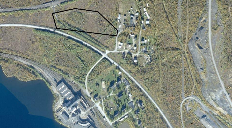 Planområdet är markerat med svart linje