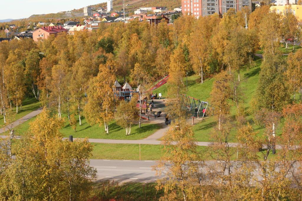 Järnvägsparken finns i centrala Kiruna. Foto: Ulrika Hannu