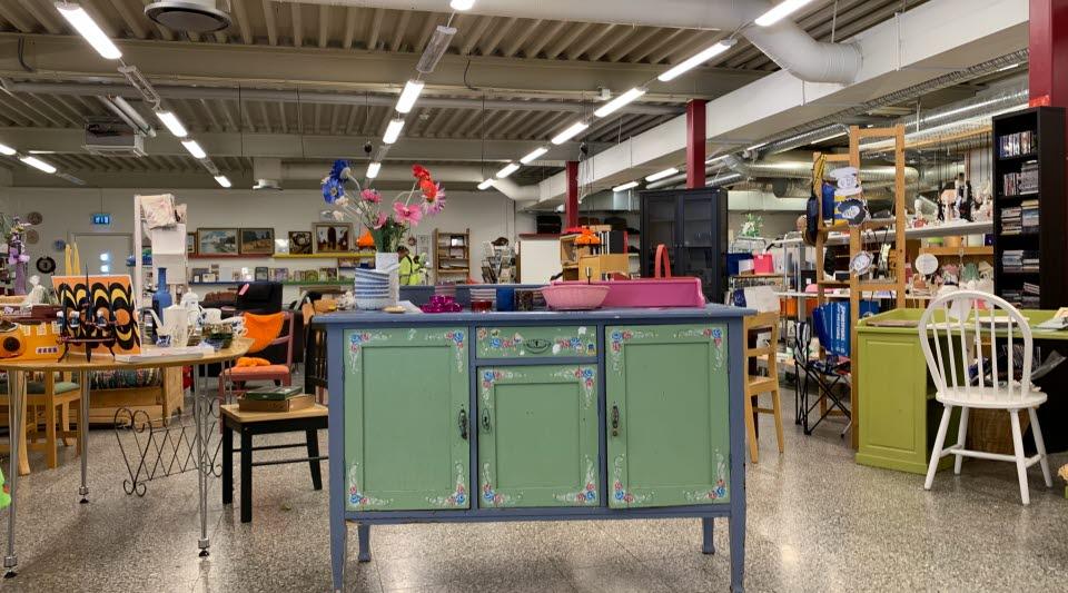 Bumerangen, återvinningsbutiken i Kiruna. Foto: Ulrika Isaksson
