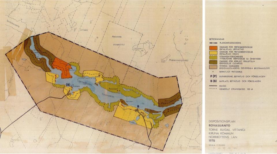 Urklipp ur plankartan för dispositionsplanen för Rovasuanto
